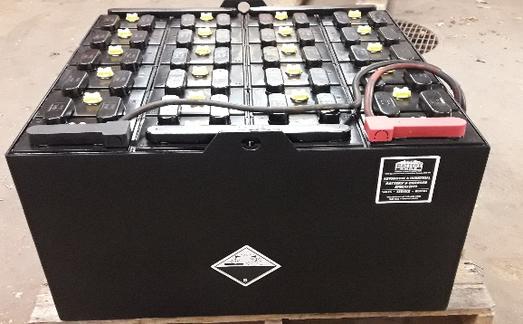 Used lift truck battery